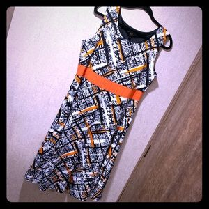 I LE Black & Orange Dress